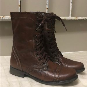 Steve Madden Leather Troopa Combat Boots